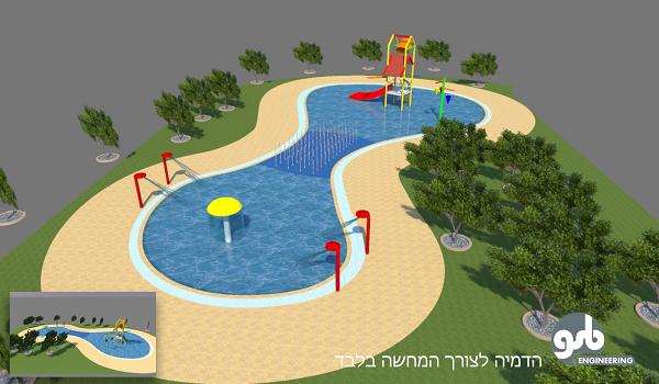 תכנון בריכת שעשועי מים חדשה בפארק אופקים