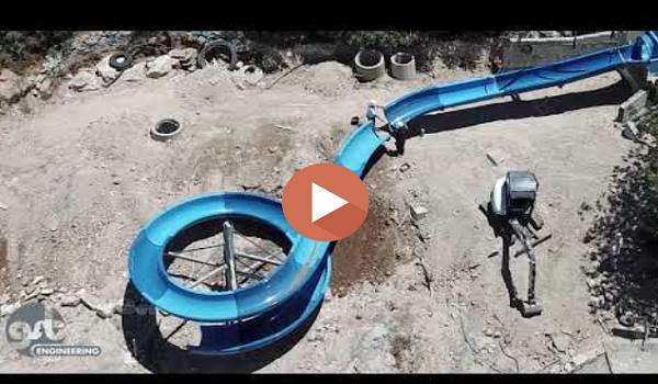 תכנון מגלשת מים - תהליך התקנה בשטח