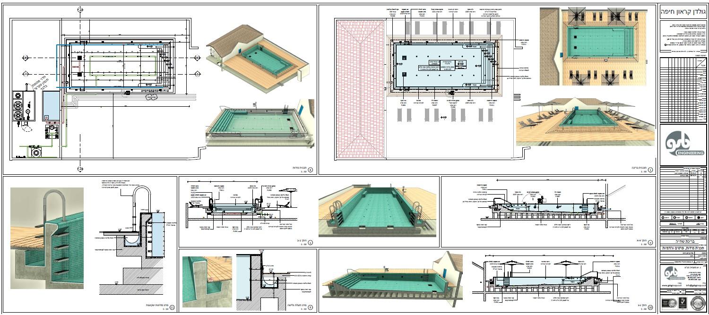 תכנון בריכת גג במלון גולדן קראון, חיפה