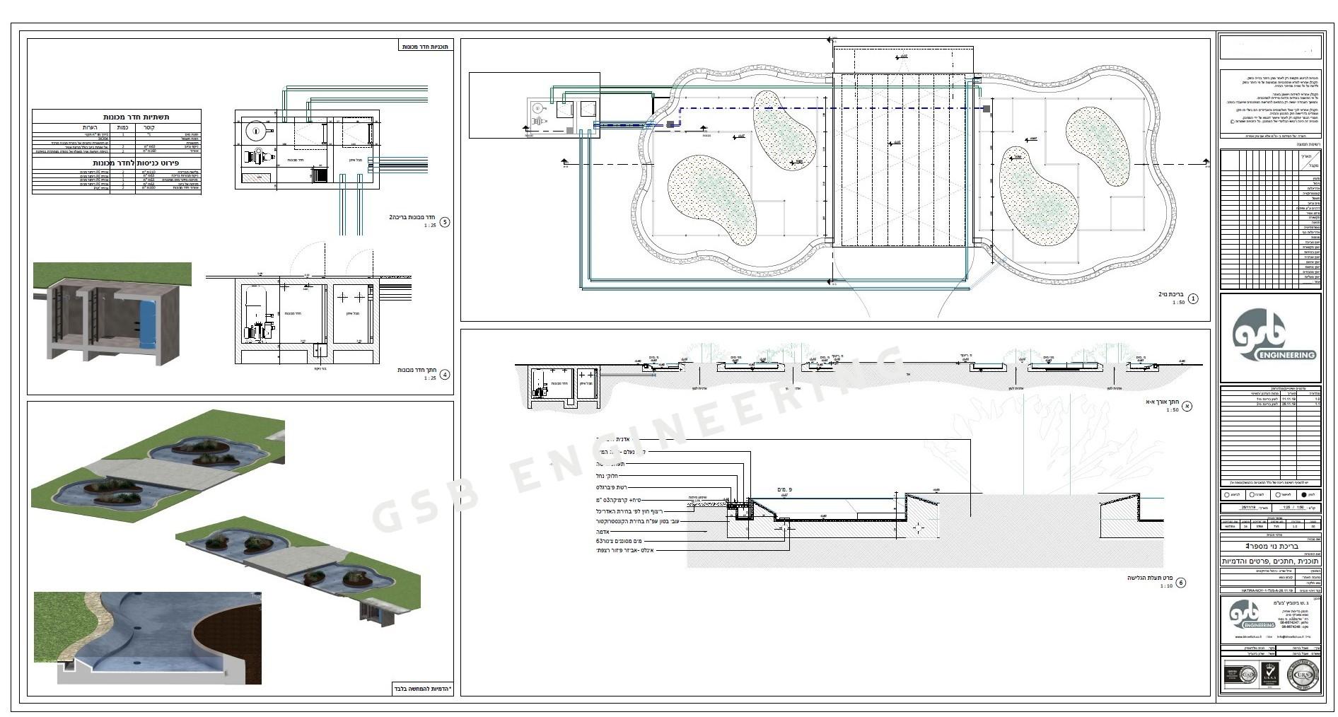 תכנון בריכות נוי בגן אירועים הטירה בגעש