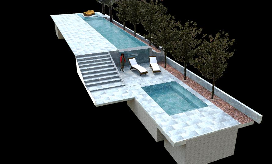 תכנון בריכת שחייה ובריכת שכשוך בחצר בית בסביון