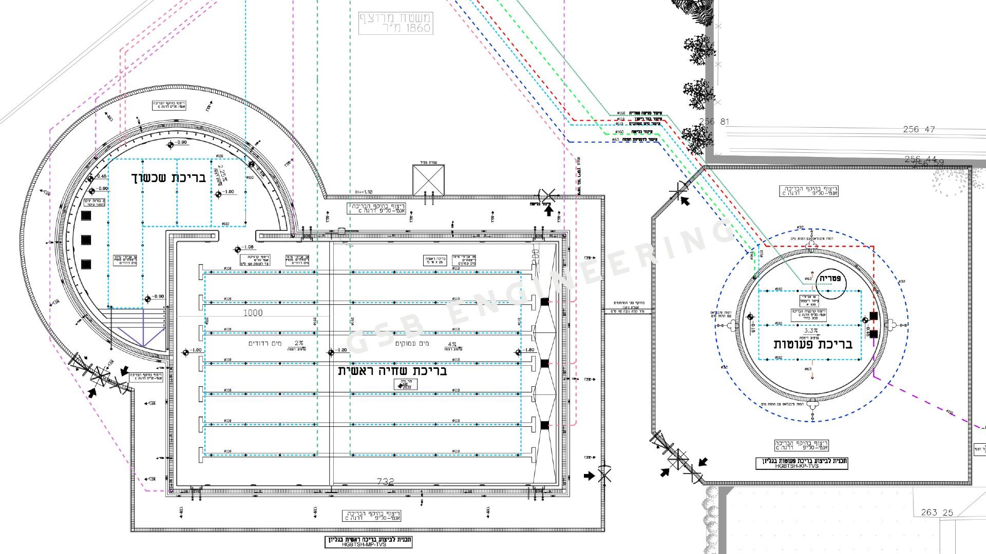 תכנון בריכת שחייה חצי אולימפית חדשה בבית שמש