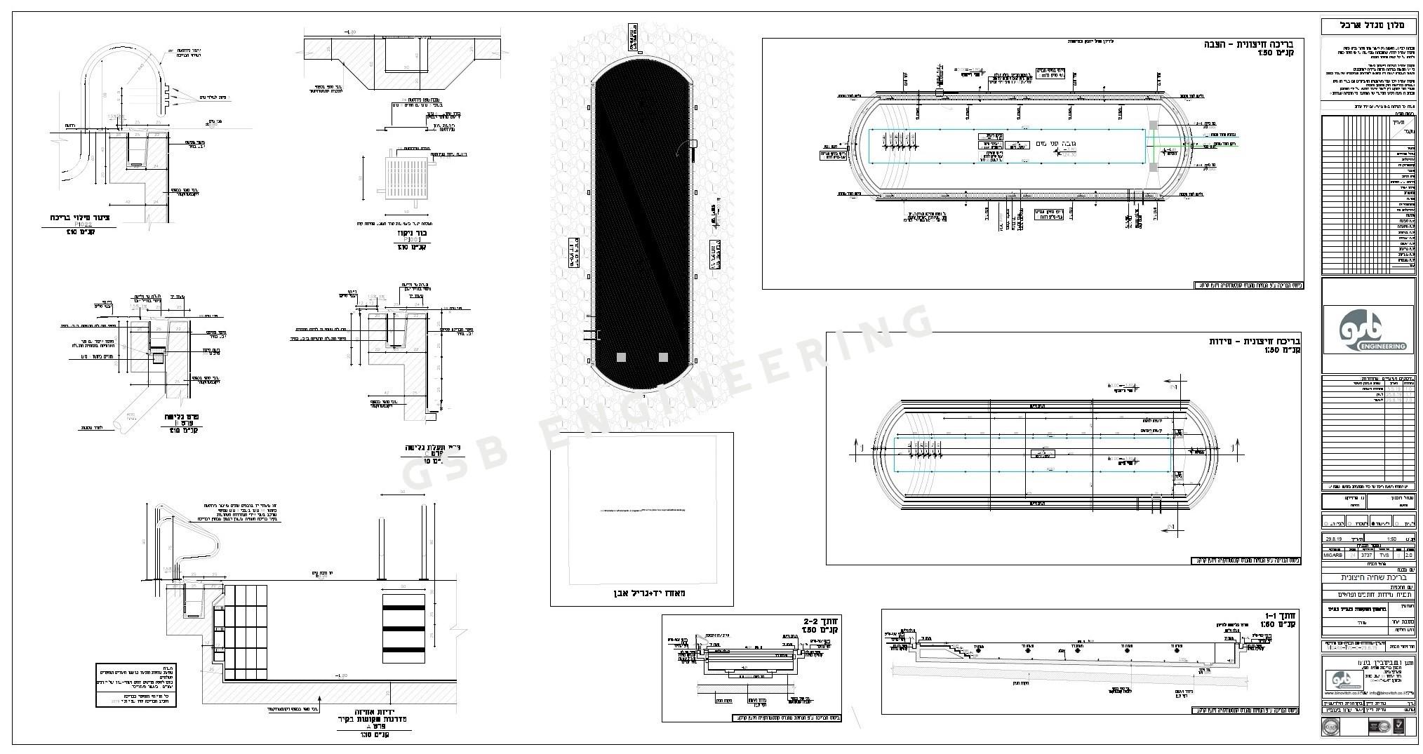 תכנון בריכת שחייה מלון מגדל ארבל