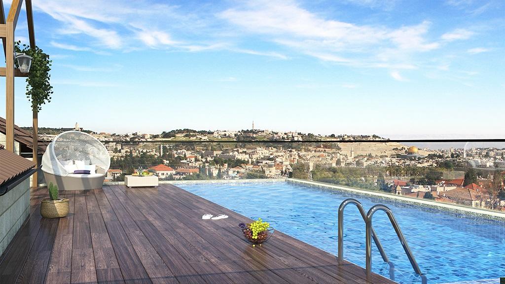 תכנון בריכת שחייה פרטית על גג בניין לשימור בירושלים