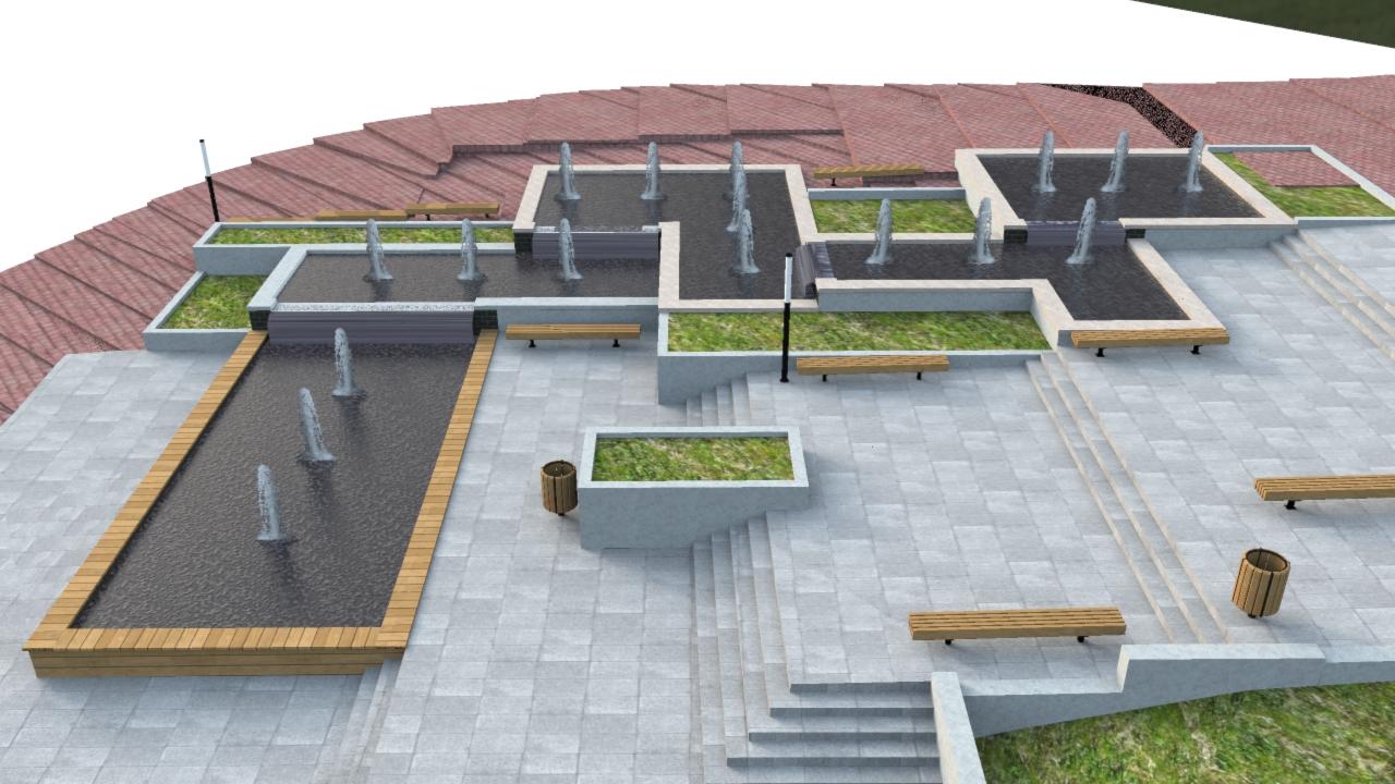 תכנון מזרקה ציבורית במגדל העמק
