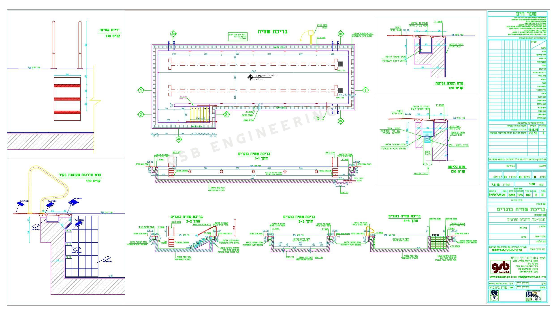 תכנון בריכת שחייה במלון שער הים נתניה
