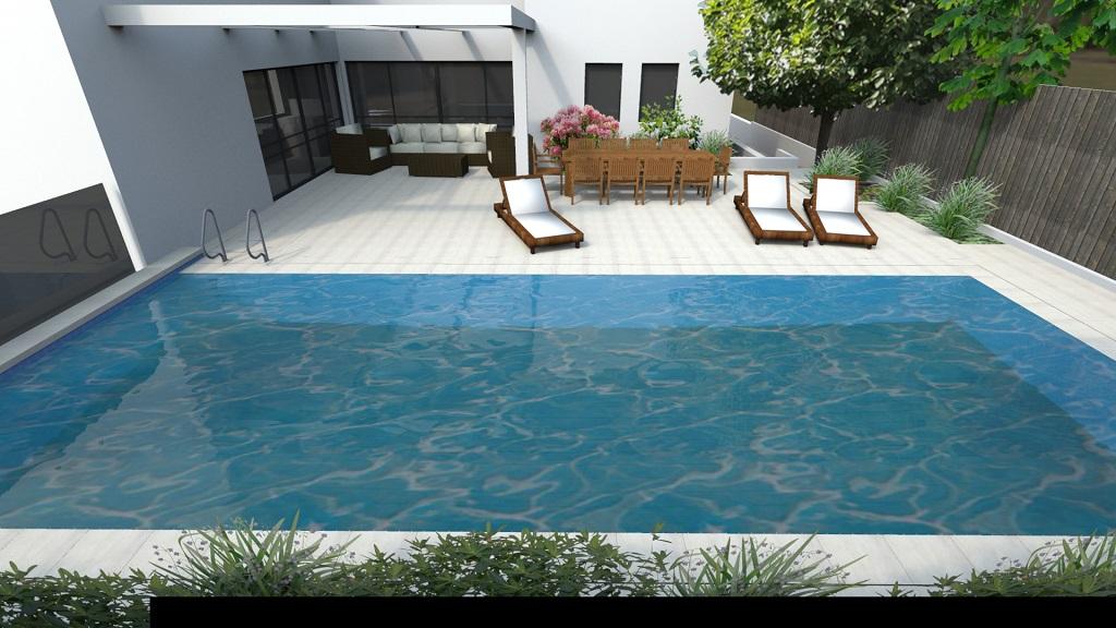 עיצוב סביבת בריכת השחייה (אופציונאלי)