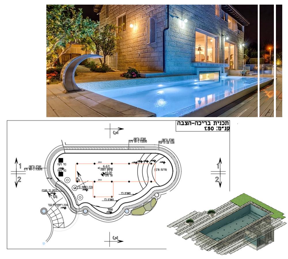 תכנון בריכות שחייה בחצר