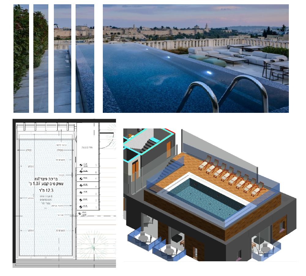 תכנון בריכות שחייה על גגות