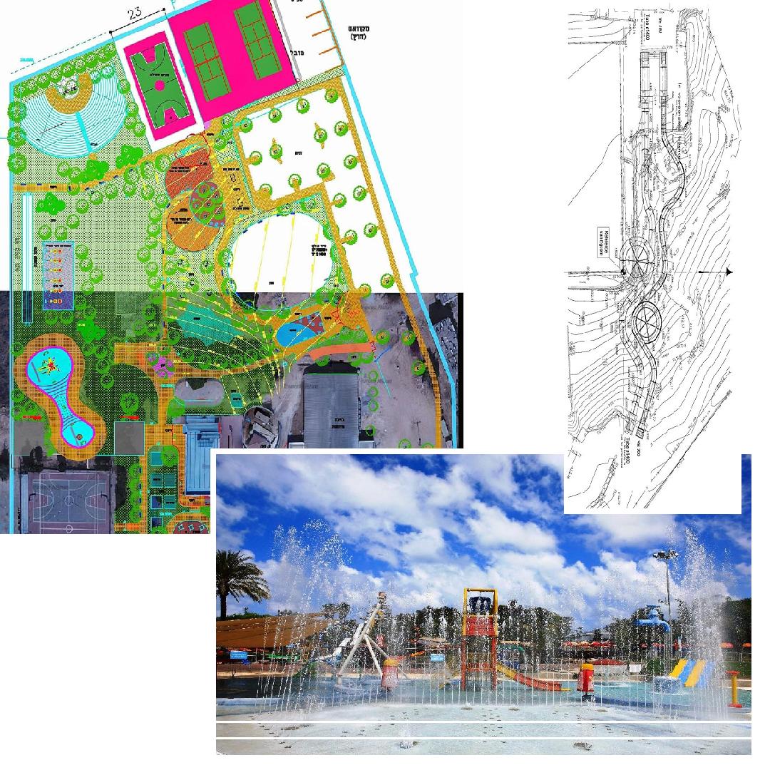 תכנון פארקי מים, מתקני שעשועים ומגלשות